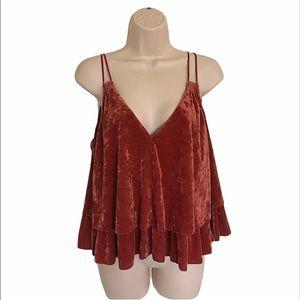Aerie maroon/rust spaghetti strap shirt size M/L